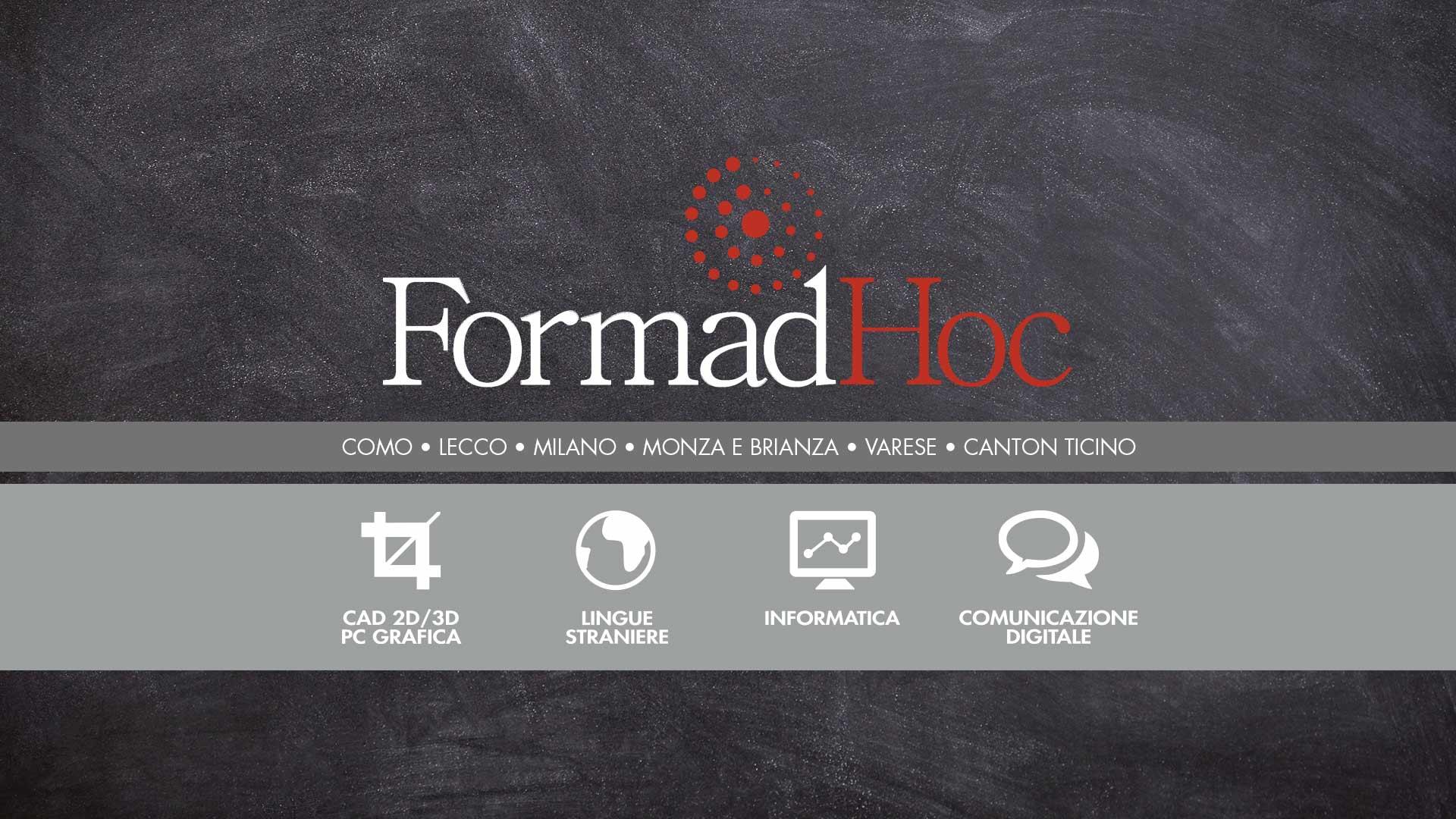 I corsi FormadHoc a Erba, Lomazzo e online.